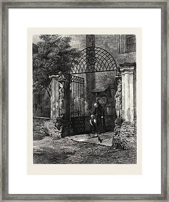 Gateway Of The Cathedral Coire, Chur, Switzerland Framed Print by Swiss School