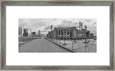 Gateway To Busch Black And White Framed Print