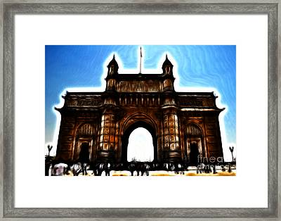 Gateway To Fractalius Framed Print