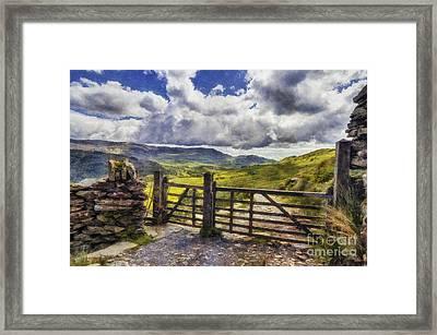 Gateway To Freedom Framed Print by Ian Mitchell