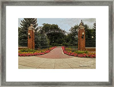 Framed Print featuring the photograph Gateway To Ndsu by Trey Foerster