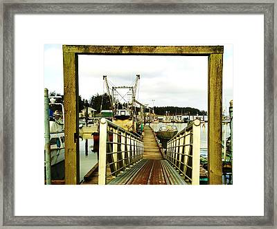 Gateway To Open Water  Framed Print