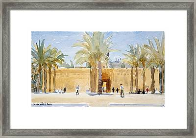 Gateway To The Mosque Framed Print by Lucy Willis