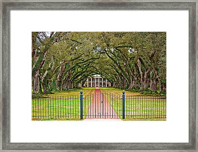 Gateway To The Old South Framed Print
