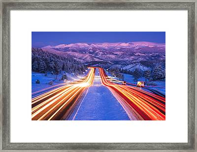 Gateway To The Rockies Framed Print by Darren  White