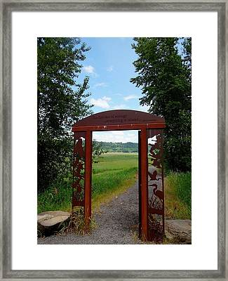 Gateway To The Trail Framed Print by Lizbeth Bostrom