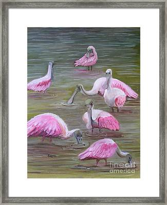 Gather At The River Framed Print by Sharon Burger