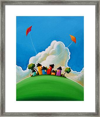 Gather Round Framed Print by Cindy Thornton