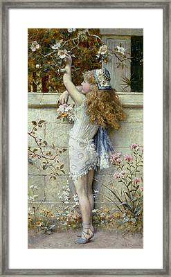 Gathering Flowers Framed Print by William Stephen Coleman