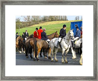 Framed Print featuring the photograph Gathering For The Hunt by Suzanne Oesterling