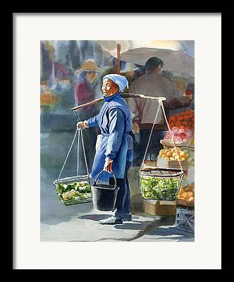Chinese Woman Framed Prints