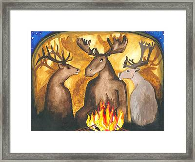 Gathering Of Ancestors Framed Print by Cat Athena Louise