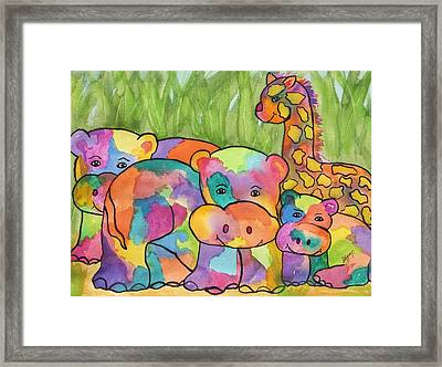 Gathering Of Friends Framed Print