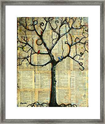 Gathering Place Winter Tree Framed Print