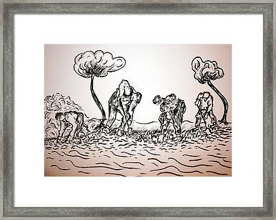 Gathering Potatoes Framed Print by Paul Morgan