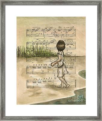 Gathering Shells From The Sea Shore 2 Framed Print