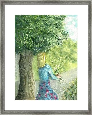 Gathering The Lillies Framed Print by Jeanne Hyland-Curtin