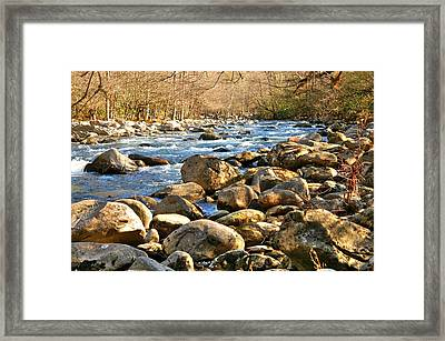 Gatlinberg River Framed Print