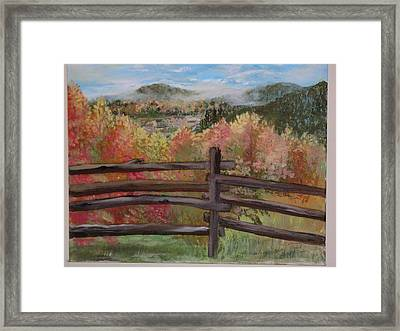 Gatlinburg Overlook Smokey Mts. Framed Print by Marty Hermes