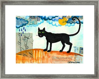 Gato Mexico Framed Print by Cat Athena Louise