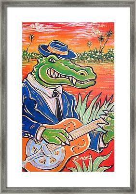 Gator Boogie Framed Print by Robert Ponzio