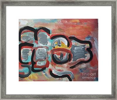 Gator Framed Print by Jay Manne-Crusoe