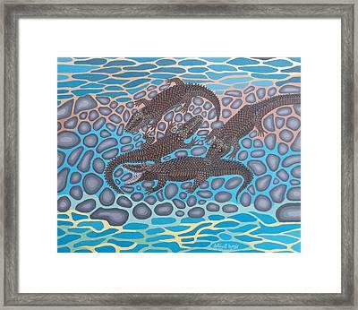 Gator Rock Framed Print by Anthony Morris