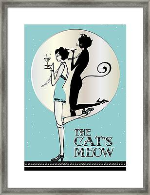 The Cats Meow Day Framed Print