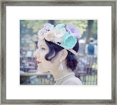 Gatsby Girl  Framed Print by Lilliana Mendez