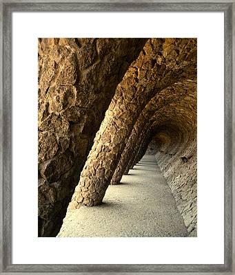 Gaudi Columns Framed Print by Todd Hartzo