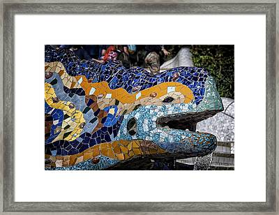Gaudi Dragon Framed Print