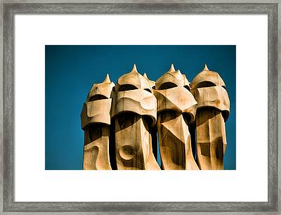 Gaudi's Soldiers  Framed Print by Joanna Madloch