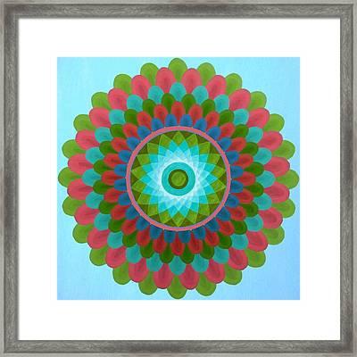 Gaudy Mandala Framed Print by Vlatka Kelc