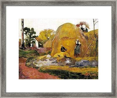 Gauguin, Paul 1848-1903. Yellow Framed Print
