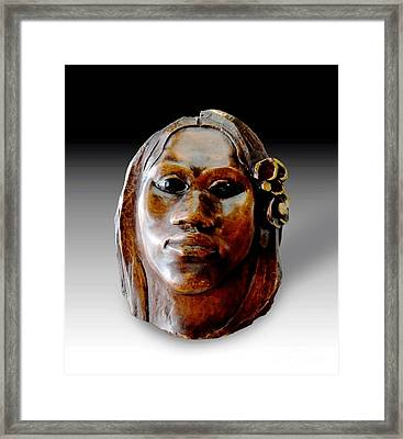 Gauguin Sculpture - Tehura Framed Print by Pg Reproductions