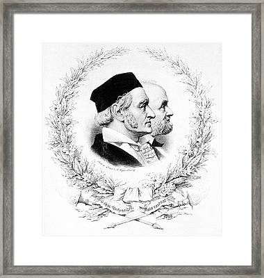 Gauss And Weber Framed Print by Science Photo Library