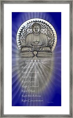 Gautama Buddha - The Noble Eightfold Path Framed Print