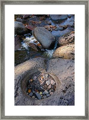 Framed Print featuring the photograph Gauthier Creek Point Of Interest by Sandra Updyke