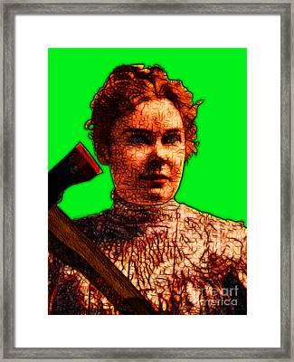 Gave Her Father Forty Whacks - Green Framed Print by Wingsdomain Art and Photography