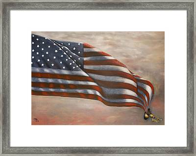 Gave Proof Through The Night Framed Print by Michelle Iglesias