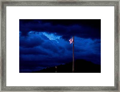 Gave Proof Through The Night That Our Flag Was Still There. Framed Print