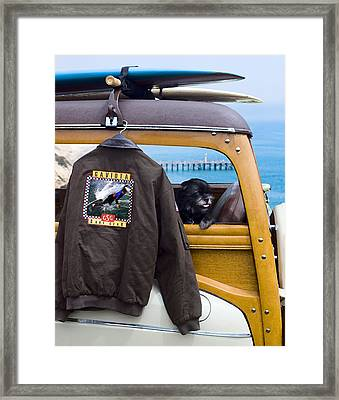 Gaviota Surf Gear Framed Print by Ron Regalado