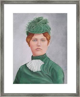 Gay 90's Lady Framed Print by Ruth Seal