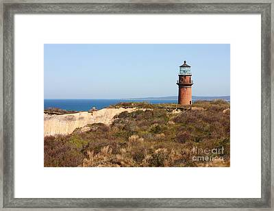 Gay Head Lighthouse Framed Print by Carol Groenen