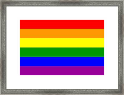 Gay Pride Flag Framed Print