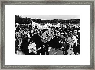 Gay Pride Gathering Framed Print