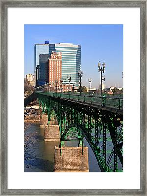 Gay Street Bridge Knoxville Framed Print by Melinda Fawver