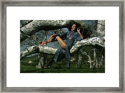 Gayle Hunnicutt In A Tree Framed Print