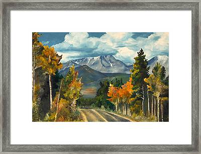 Framed Print featuring the painting Gayle's Highway by Mary Ellen Anderson