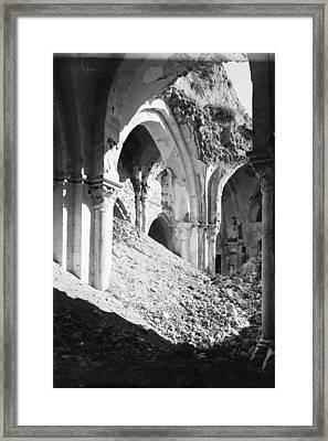 Gaza Mosque Ruins Framed Print
